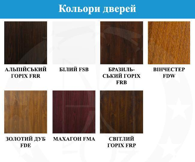 кольори дверей GERDA - TT MAX