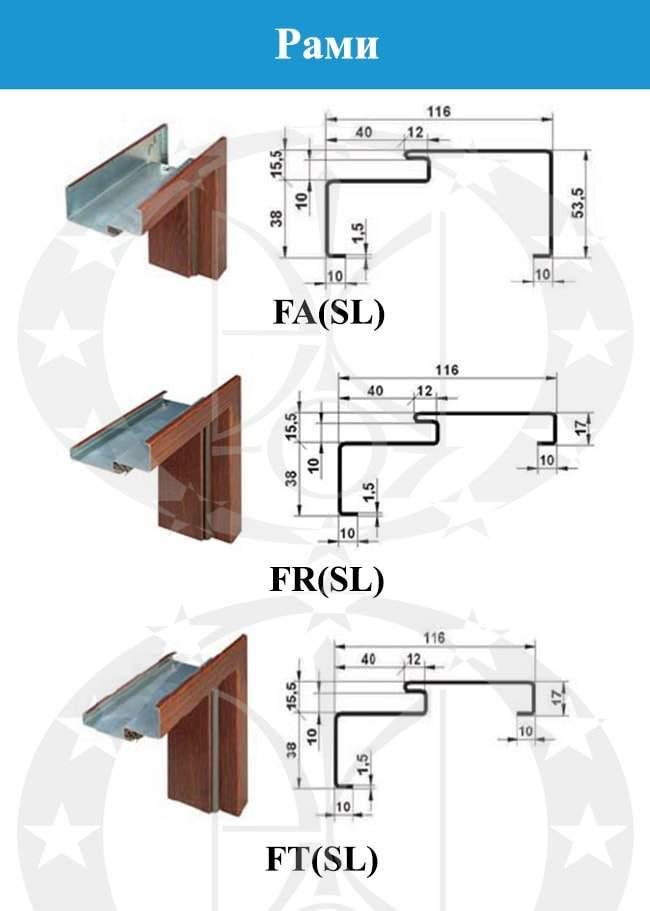 Рами дверей GERDA WPX3010D(S)