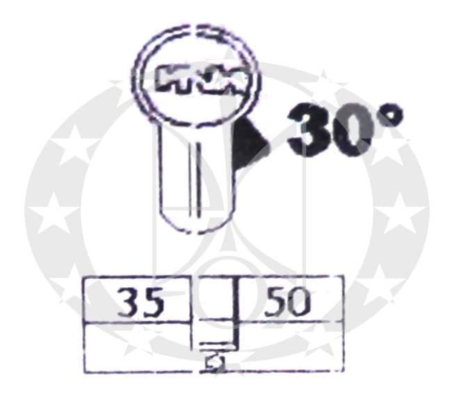 Серцевина ISEO R6 35/50 креслення