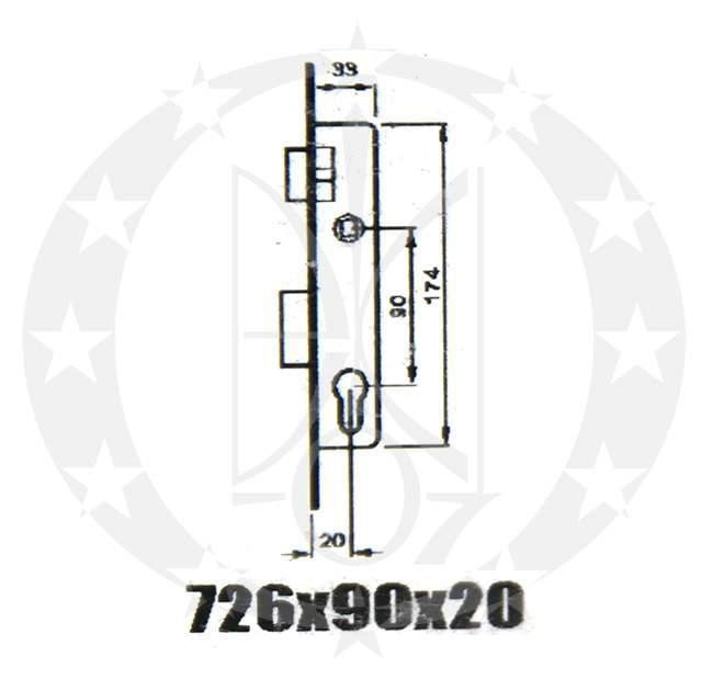 Mul-T-Lock SANTOS Profile Lock 726 PZ