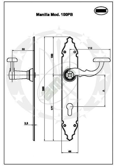 Ручка AMIG mod.109(14933) креслення