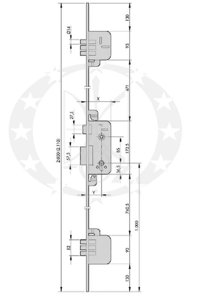 Механізм AZBE 8922 креслення