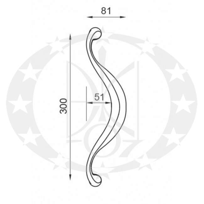 Антаба LATINA OGH (1111-OGH) креслення