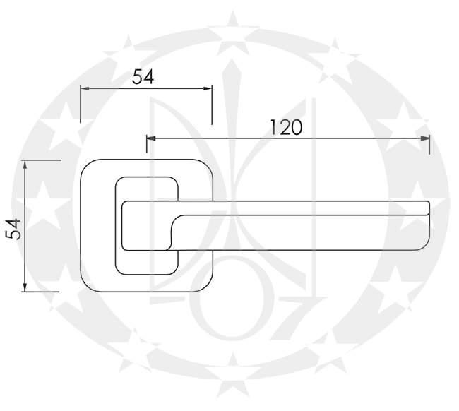 Ручка Nomet ALEX T-1411-120 креслення