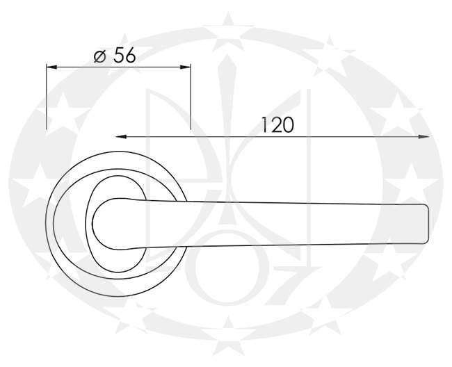 Ручка Nomet PEGAZ T-251-104 креслення