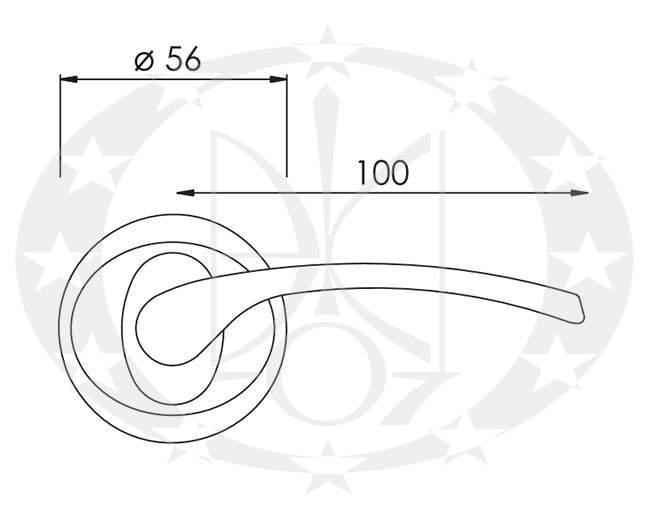 Ручка NOMET DENEB T-511-104 розета (G6)