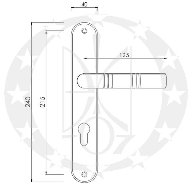 Ручка Nomet KOBRA T-575-100 креслення