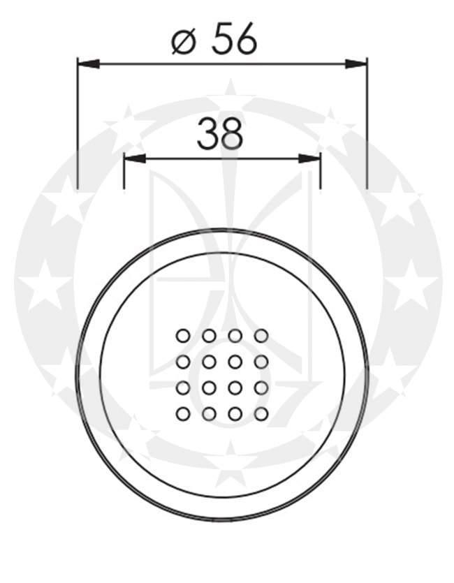 Ручка -галка Nomet ARGUS T-641-112-P креслення