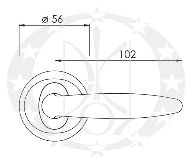 Ручка Nomet AQUILA T-881-104/06 креслення