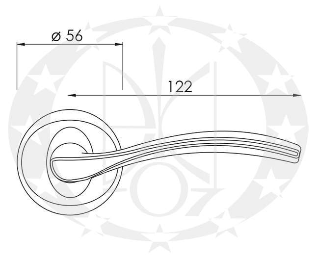 Ручка Nomet PAVO T-951-104 креслення