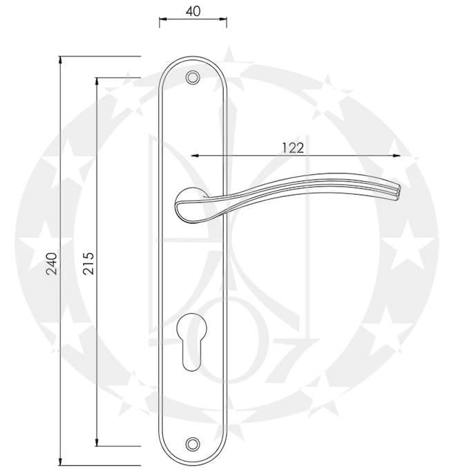 Ручка Nomet PAVO T-957-190 90 PZ креслення