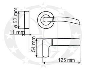 РучкаGamet ADULAR DH-96A-24Z-07-BL креслення розміри