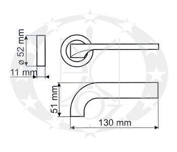 Ручка дверна Gamet ALTIVA DH-97A-24Z-07-BL креслення