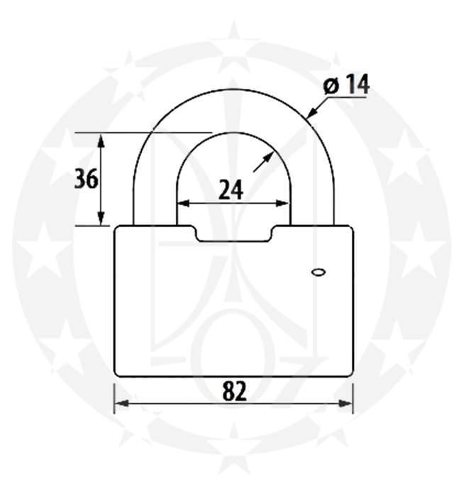 Замок ЧАЗ ВС 2-9 креслення
