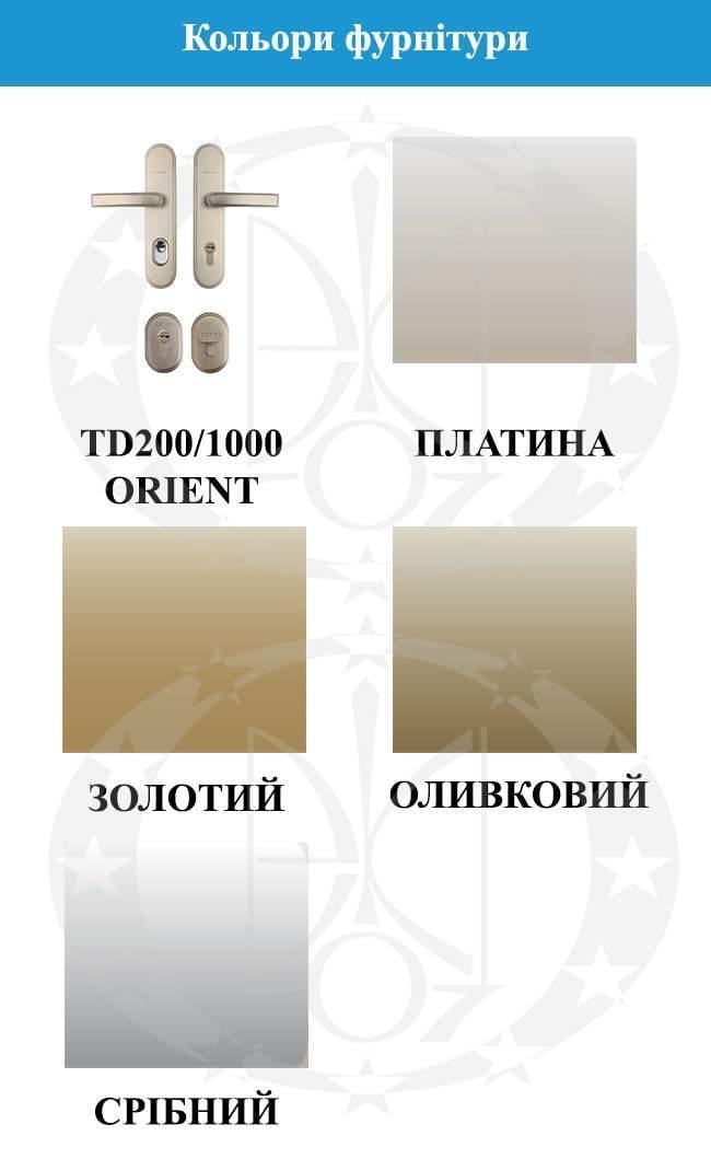 Кольори фурнітури GERDA WX10 STANDARD