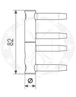 Завіс AGB mod.3D Ф16 креслення
