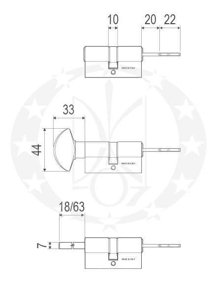 Серцевина AGB Scudo 5000 (C500013545) креслення