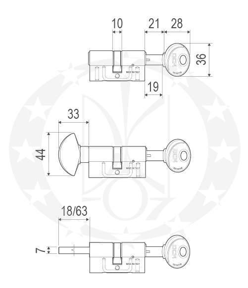 Серцевина AGB Scudo DCK (C100104545) креслення