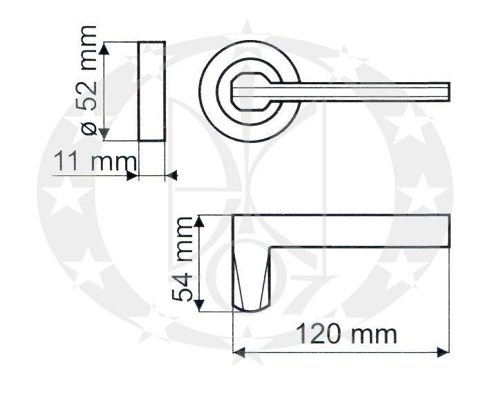 Ручка Gamet DISCRETO DH-99A-24Z-AB-BL креслення