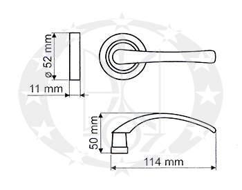 Ручка дверна Gamet GAJA DH-A-22-03 креслення