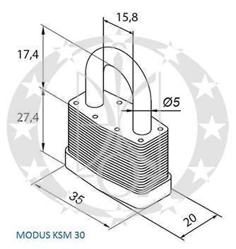 Колодка GERDA KSM-30 MODUS креслення