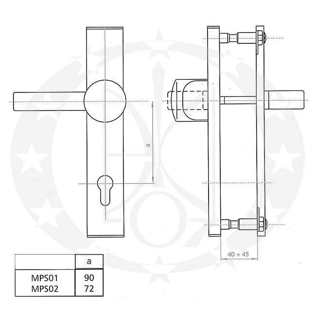 Галко-ручка LOB MPS01 90 PZ креслення