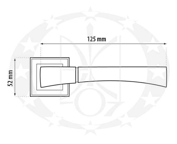 Ручка Metal-Bud GAMA (ZGKP) креслення