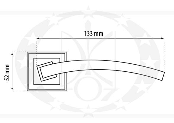 Ручка дверна Metal-bud ALFA креслення