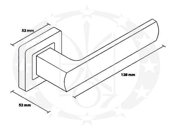 Ручка Metal-Bud IBIZA (ZIBZC) креслення