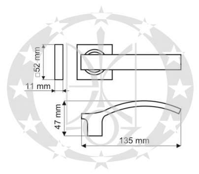 Ручка Gamet VITALIS DH-03-22-07-KW креслення