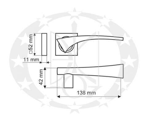 Ручка Gamet ARCUS DH-08-22-06-KW креслення