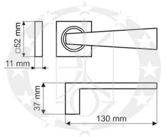 Ручка Gamet LIBRA DH-11-22-WB00S-KW креслення