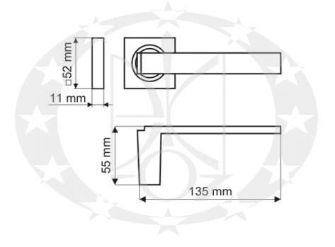 Ручка Gamet MENSA DH-12-22-04-KW розета