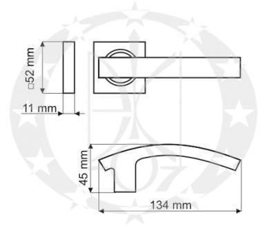 Ручка Gamet FUTURE DH-17-22-WB00R-KW Aseptik Line креслення