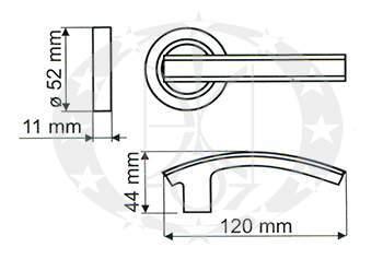 Ручка Gamet TITAN DH-C-22-07-KW креслення