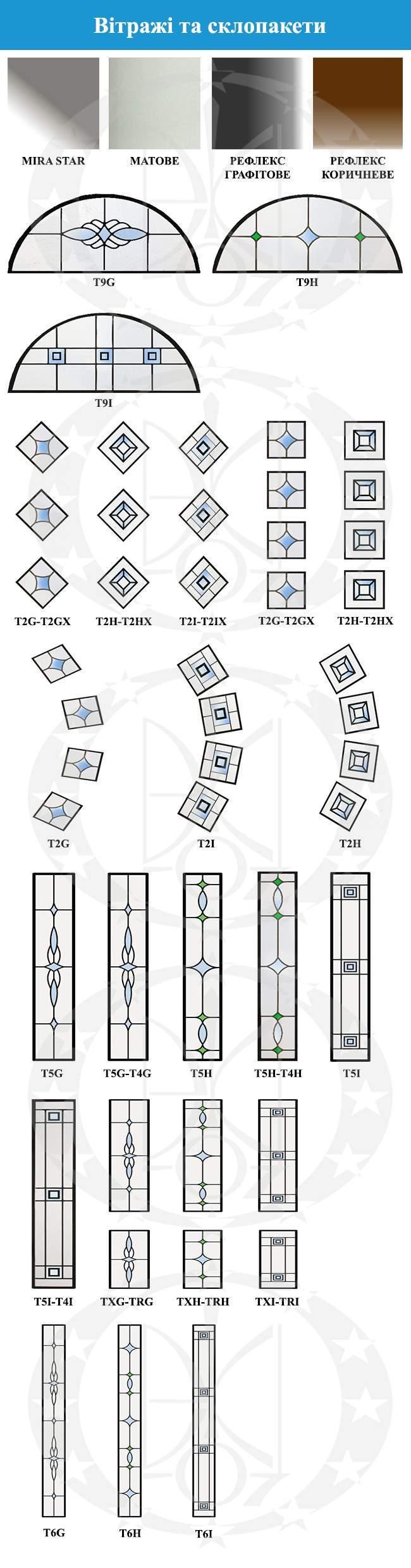 вітражі та склопакети дверей GERDA - TT MAX