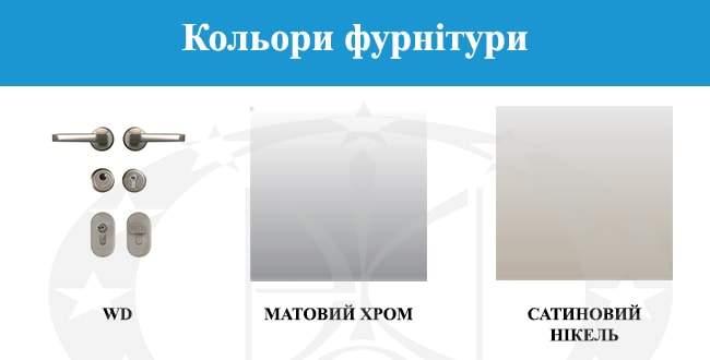 Кольори фурнітури GERDA - WP30(S)