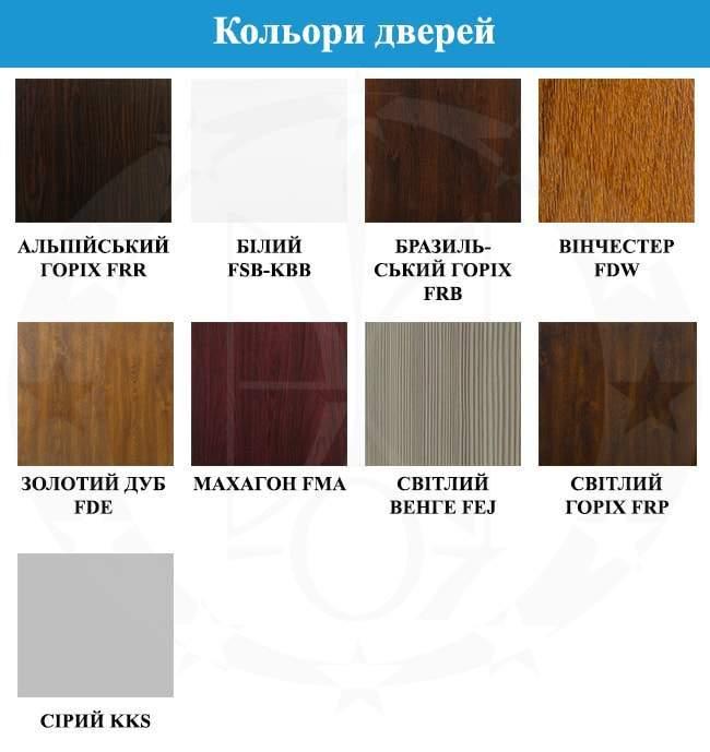 кольори дверей GERDA - WP30(S)