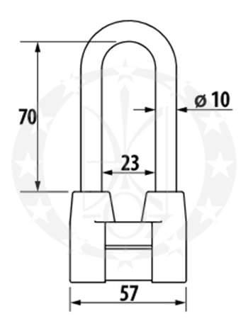 Навісний замок ЧАЗ ВС 2-4а-01