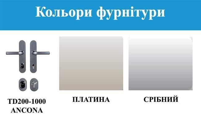 Кольори фурнітури GERDA WX10 PREMIUM