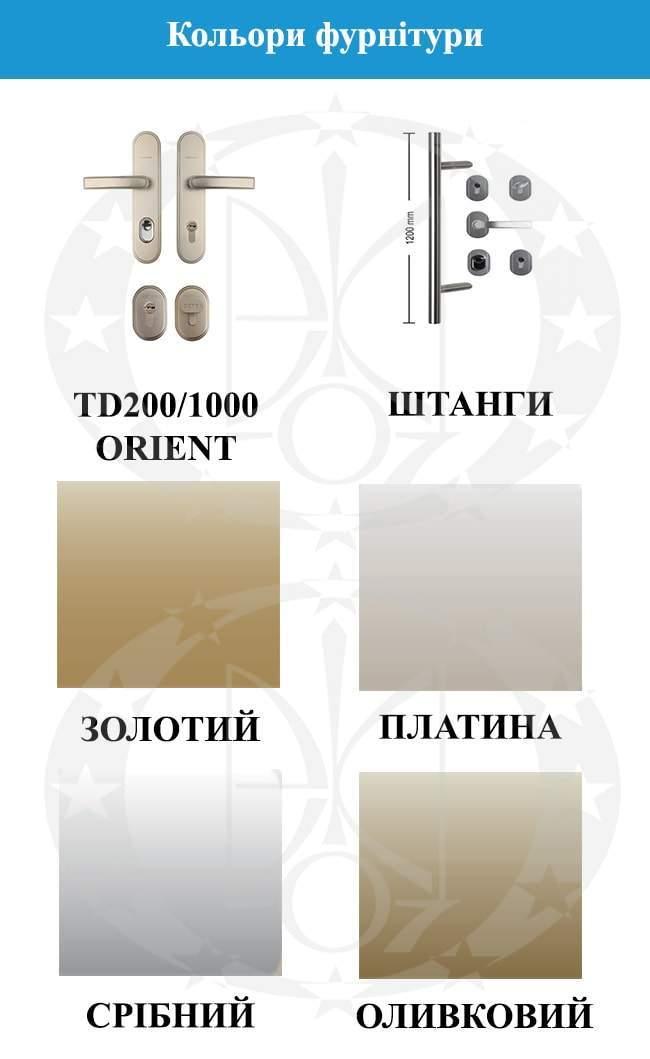 Кольори фурнітури дверей GERDA WX20