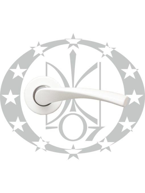 Защіпка міжкімнатна АРІКО ЗЩ114-5 з ручкою біла