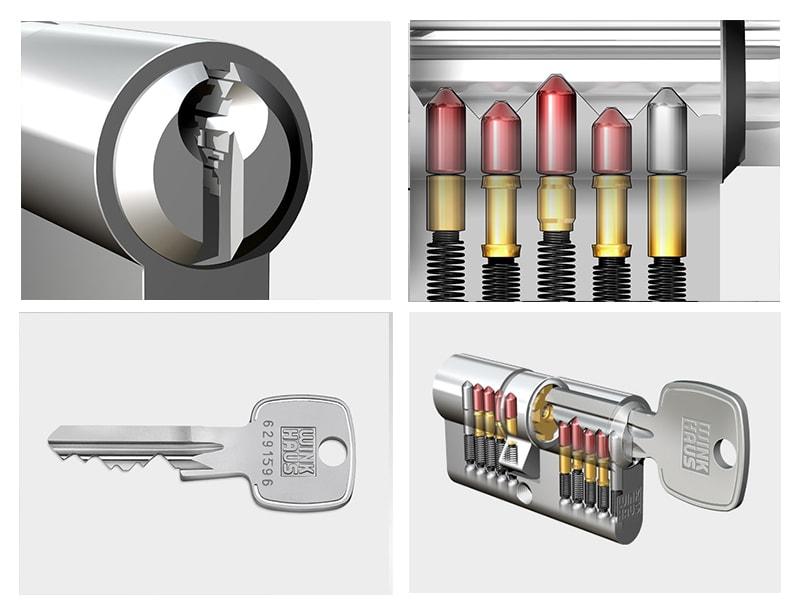 Серцевина WINKHAUS keyTec X-pert 45/50 01 N 3 ключі