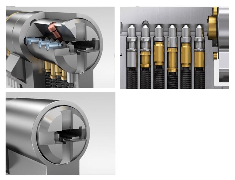 Серцевина WINKHAUS keyTec N-tra 35/35 01 N 3 ключі