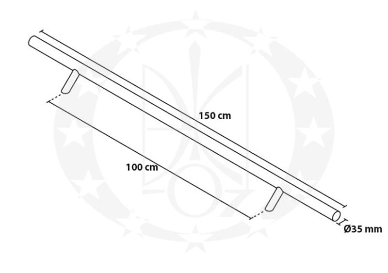 Антаба Metal-Bud AOSJ15 креслення і розміри