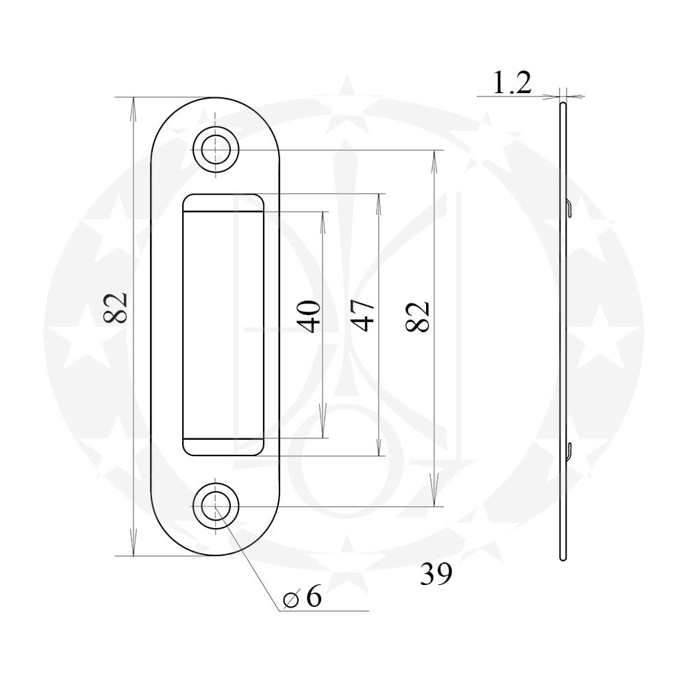 Планка до замка AGB Mediana Polaris Easy-Fix XT креслення