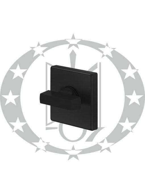 Ручка QUATTRO 02-Z VIS WC ZNE чорний квадратна розета