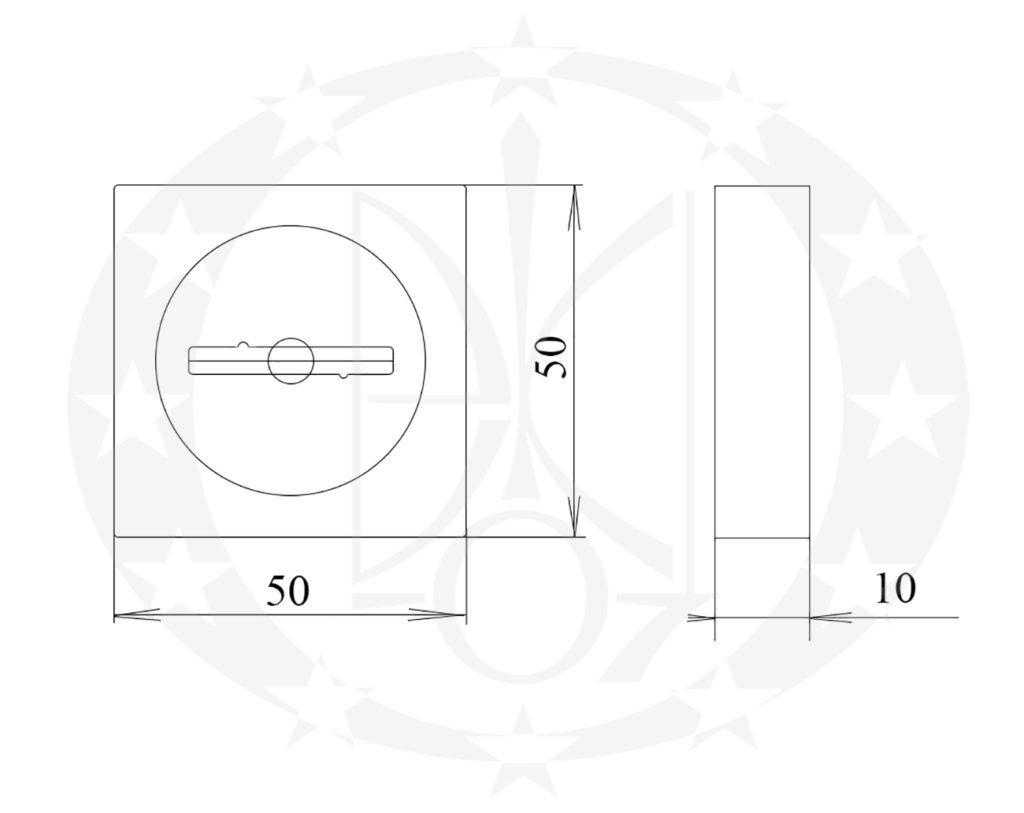 Накладка під ключ KEDR ET-08 BURATINO SN/CP нікель сатинований/хром