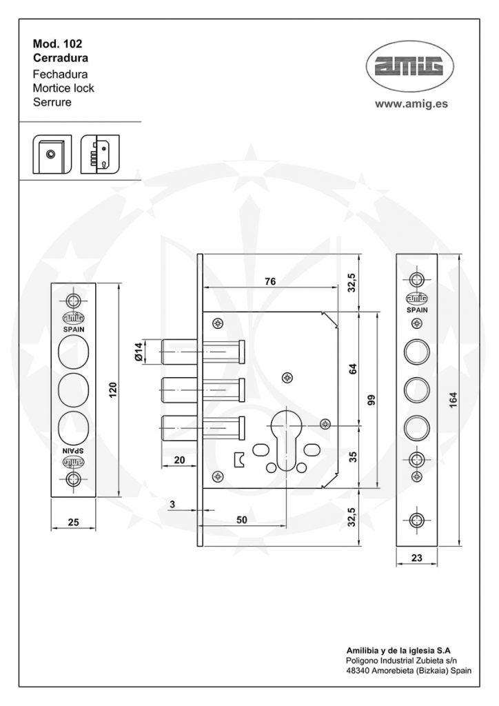 Механізм AMIG mod.102 (11836) креслення