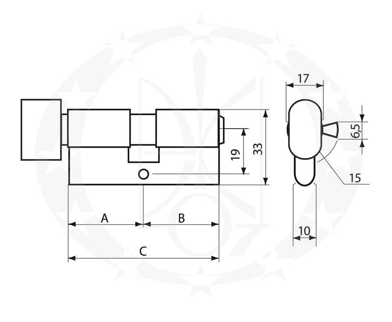 Серцевина GERDA WKE-1 41/41 вороток креслення